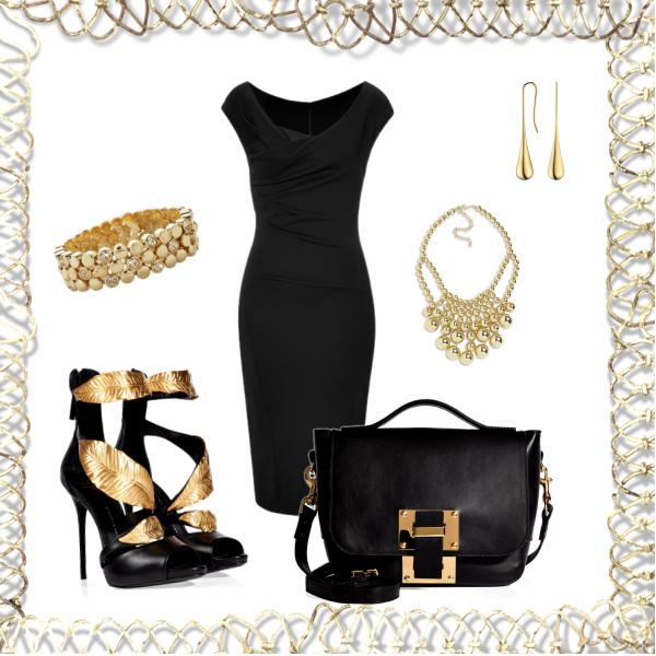 zlatočerná elegance