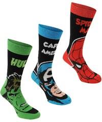 Ponožky Marvel 3 Pack Crew pán.
