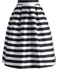 Chicwish midi sukně Zebra