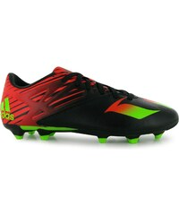 Adidas Messi 15.3 FG Mens Football Boots, black/sol green