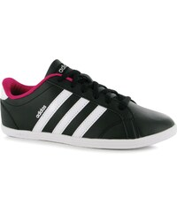 Adidas Coneo QT Leather Trainers Womens, black/white/sil