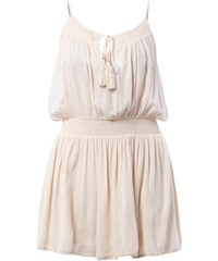 Vila Kleid aus Viskosekrepp mit gesmokter Taillenpasse