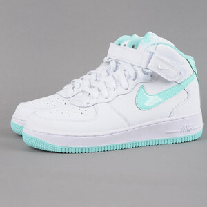 nike air force 1 mid (gs) white/artisan teal