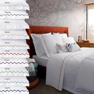 yves delorme zigzag parure de lit saphir. Black Bedroom Furniture Sets. Home Design Ideas