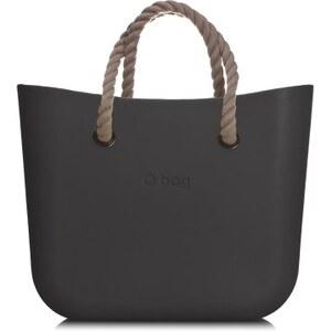 Bag kabelka mini černá s krátkým provazem natural - Glami.cz