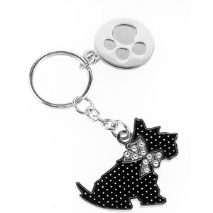 Marks and spencer m s collection scooty kitten diamanté keyring