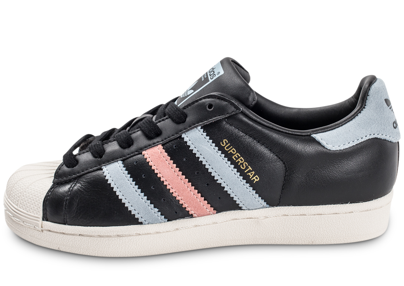 adidas Baskets/Tennis Superstar Cuir Core Black Femme. 1