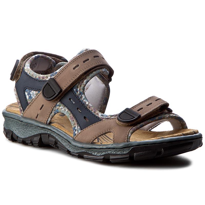 Sandály RIEKER - 68872-25 Brown Combination - Glami.cz 12bf485cd7