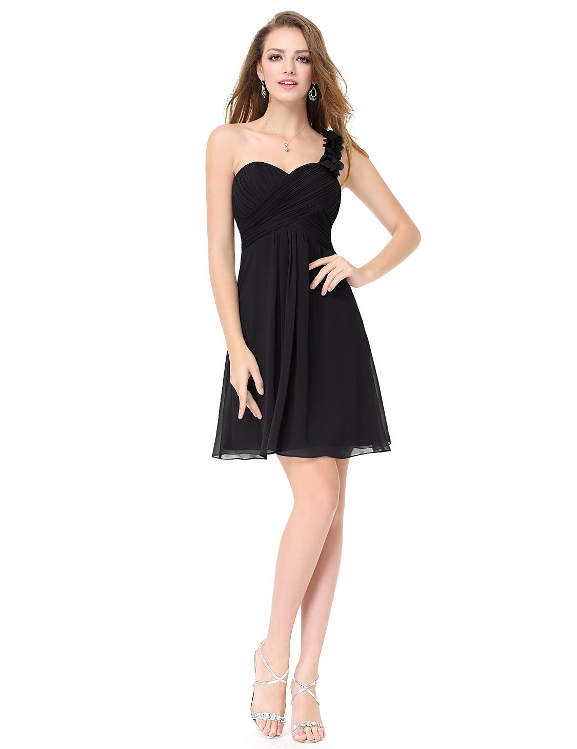 c61023680875 Ever Pretty šifonové šaty krátké černé 3535 - Glami.cz
