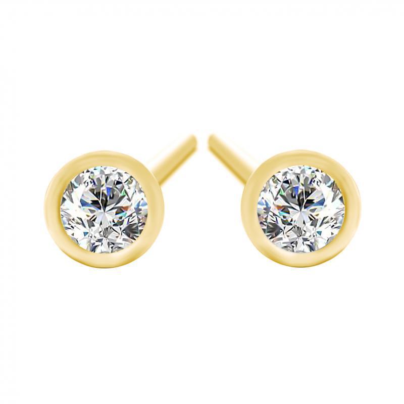 318782fb1 Eppi Zlaté bezel náušnice s 0.16ct diamantmi Delilah - Glami.sk