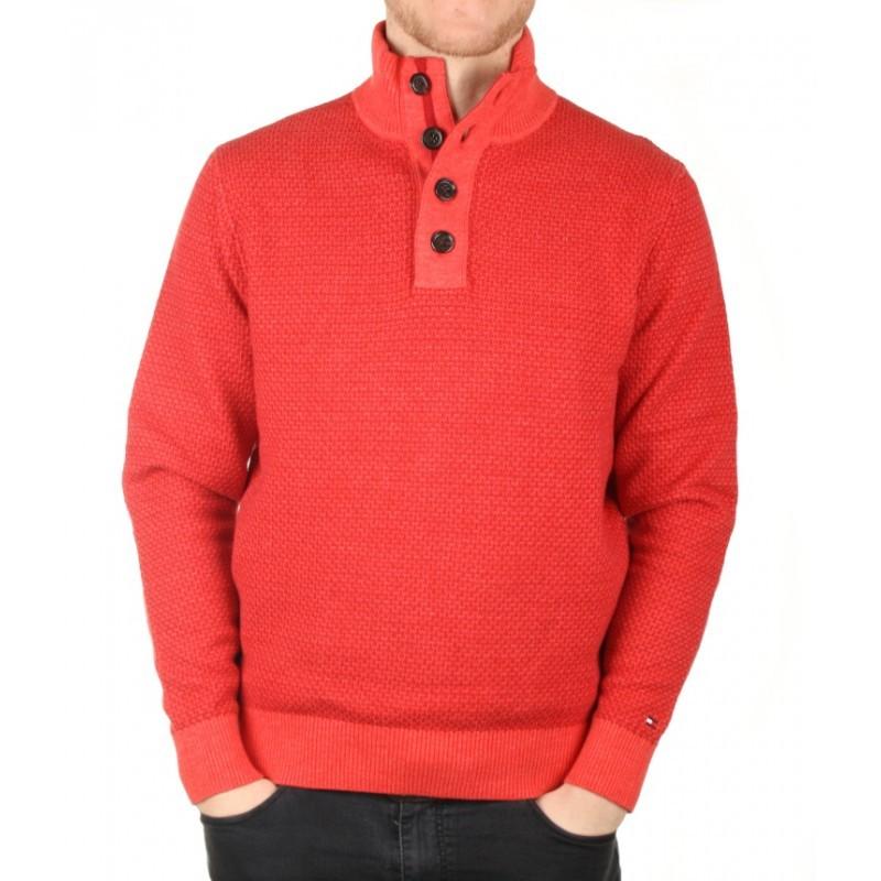 Tommy Hilfiger pánský červený svetr Tylor - Glami.cz 18402606a0c