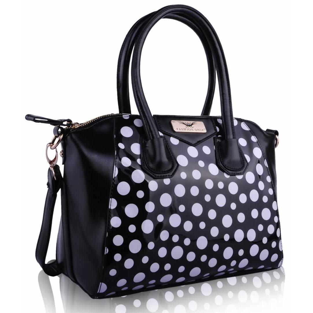 L S Fashion (Anglie) Kabelka LS0075 černobílá - Glami.cz f0faff6188