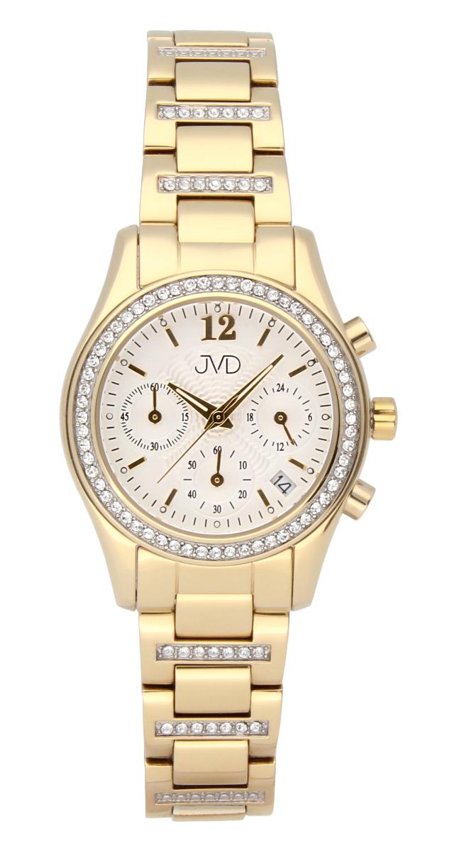 Luxusní šperkové dámské hodinky JVD JC130.2 s chronografem - voděodolné 5510638619