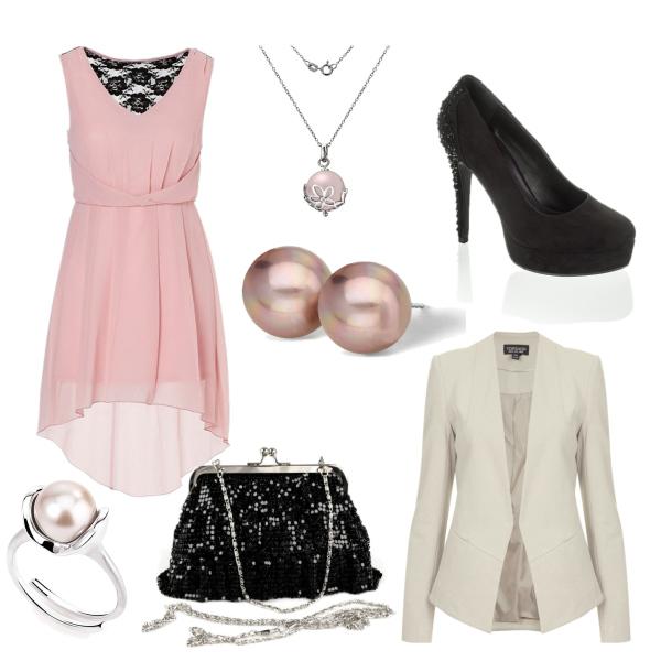 Růžovočerná+bílá