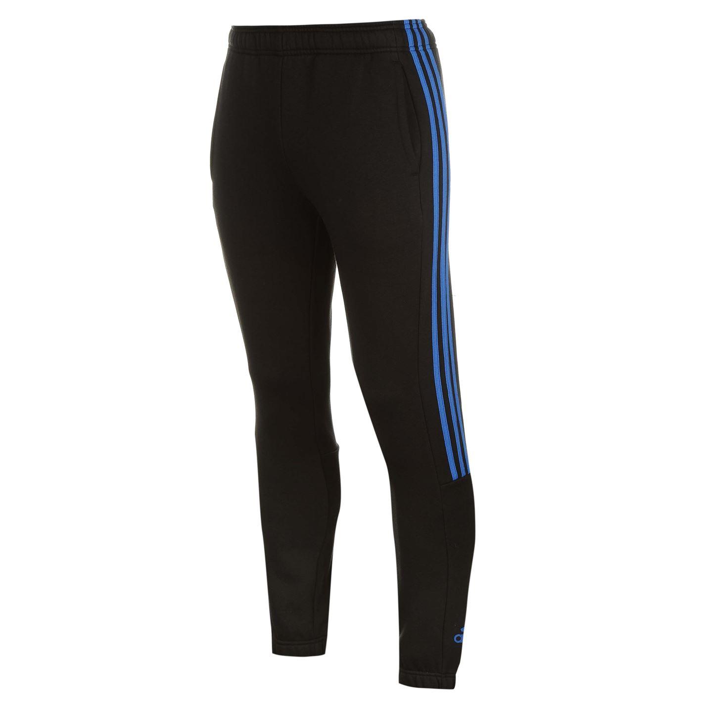 adidas 3 Stripe Sweat Pants pánské Black Blue - Glami.sk c7db2fd93f7