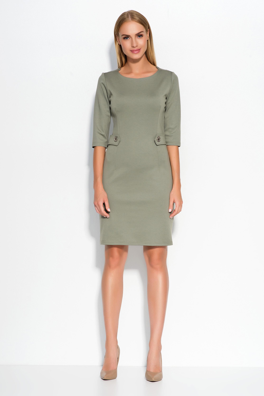 Dámské šaty Makadamia M325 olivové - Glami.cz 67b4e1c6b0e