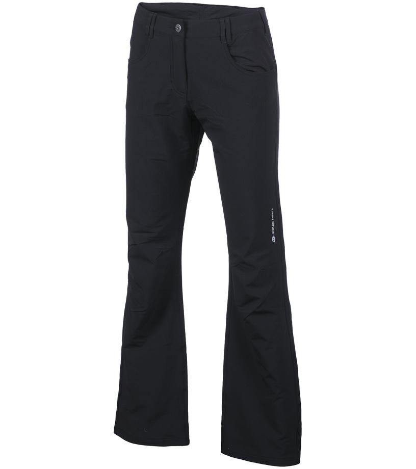 4fd81613c571 ALPINE PRO OMINECA Dámske softshellové nohavice LPAG091990 čierna 36 ...