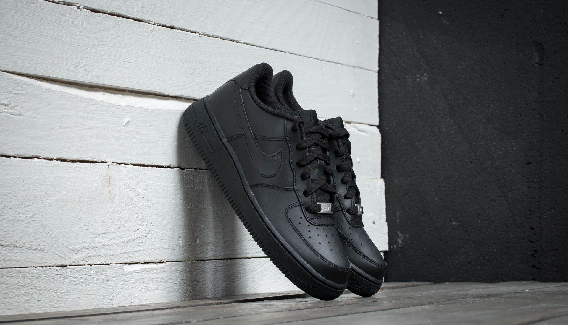 Nike Air Force 1 (GS) Black  Black-Black - Glami.cz f396232cb73