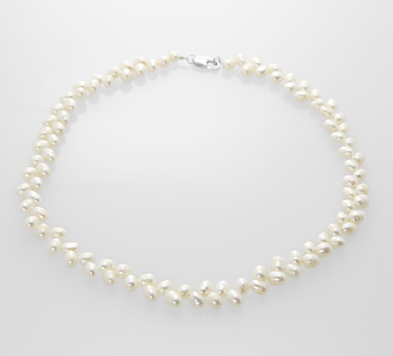 7e13030ac Fashion Icon Perlový náhrdelník bíly zigzag perly - Glami.cz