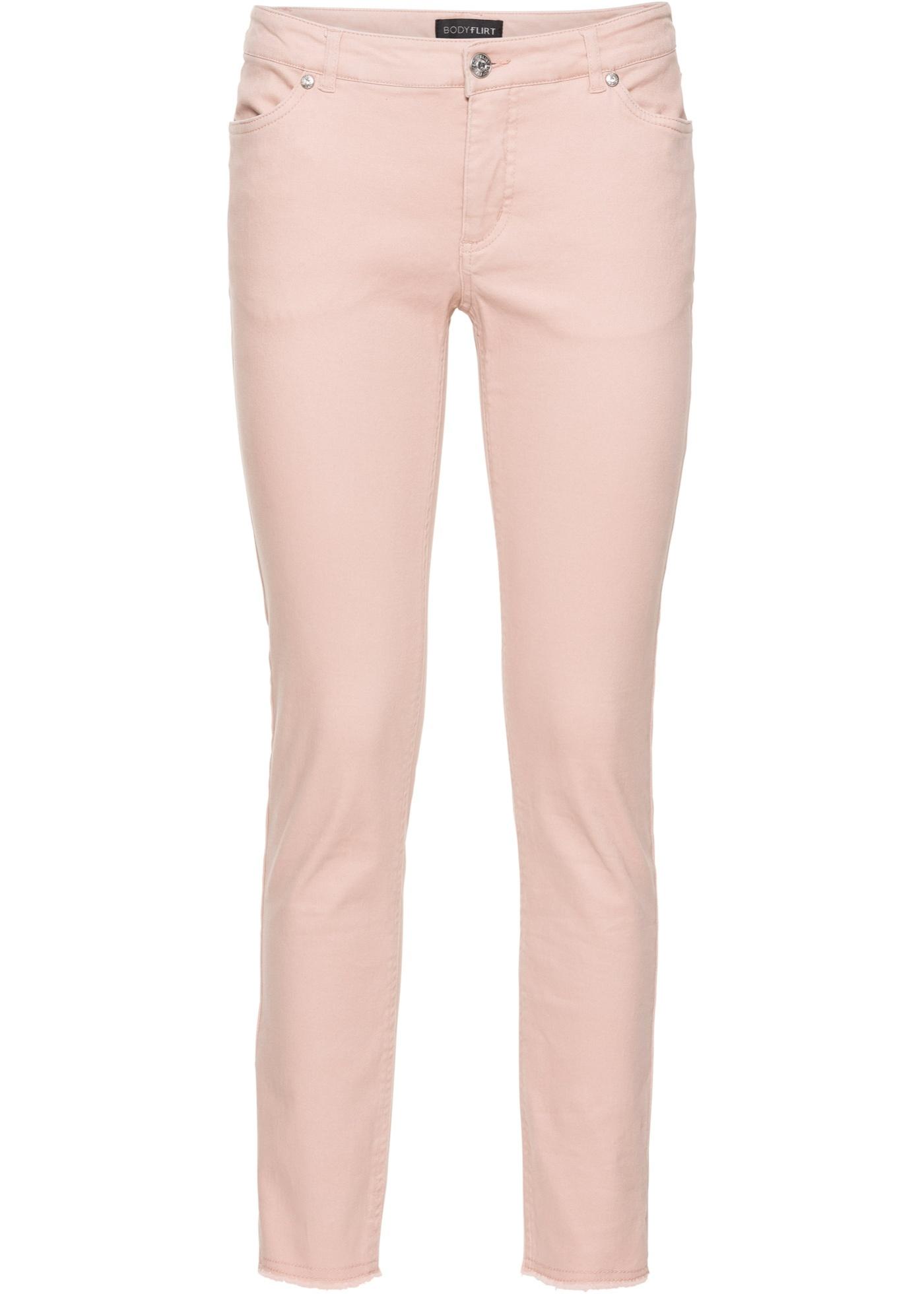 BODYFLIRT 7 8-Stretchhose mit Fransen in rosa für Damen von bonprix ... 850264cee8