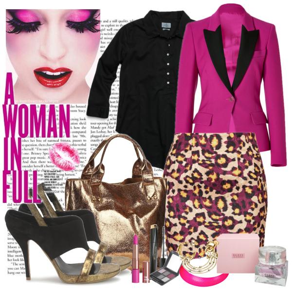 black-pink-gold wild woman