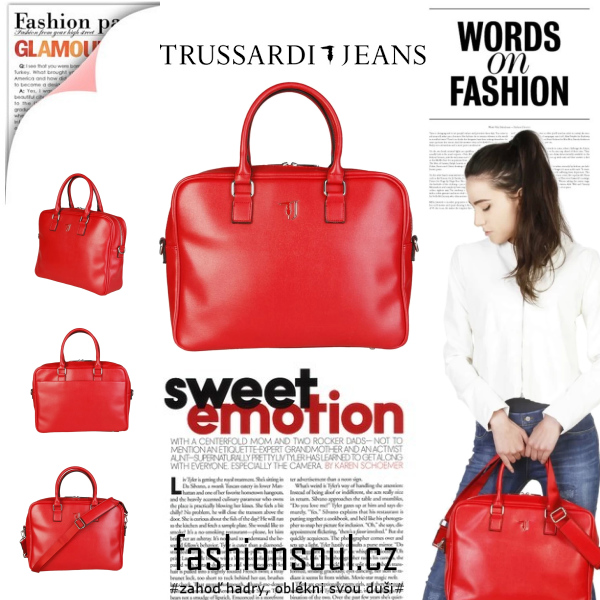 TRUSSARDI JEANS bussines handbag