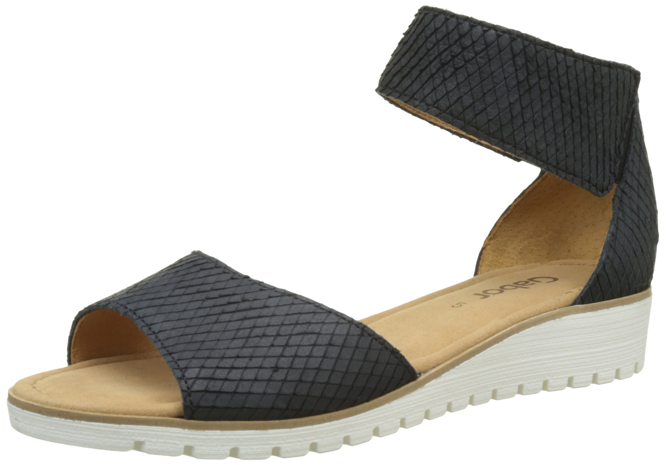 Femme, Sandales, Ethnic Wedge Sandals with Strass, Noir (Black), 37Tantra