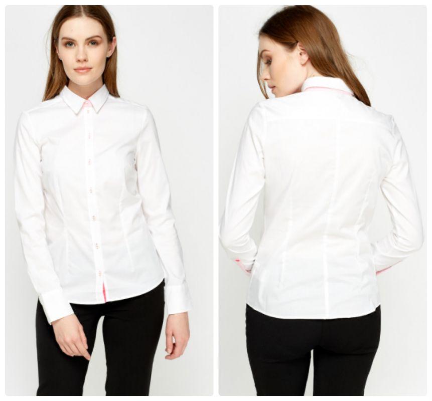 be1db9f66b5 Bílá bavlněná formální košile H M - Glami.cz