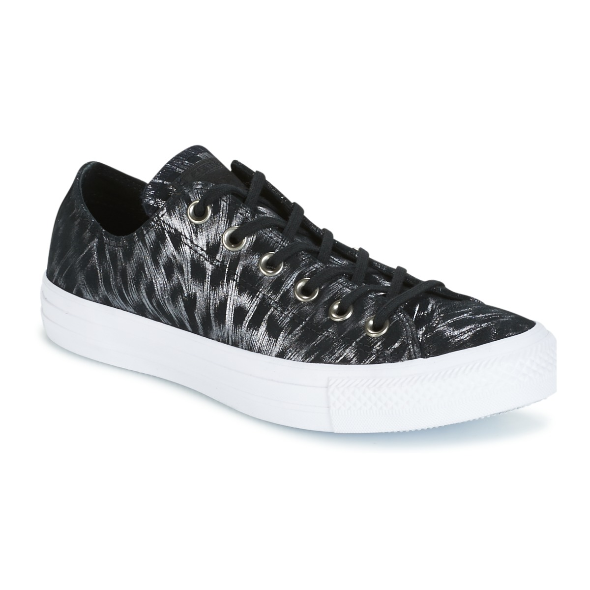 5427335c36a Converse Tenisky CHUCK TAYLOR ALL STAR SHIMMER SUEDE OX BLACK BLACK ...