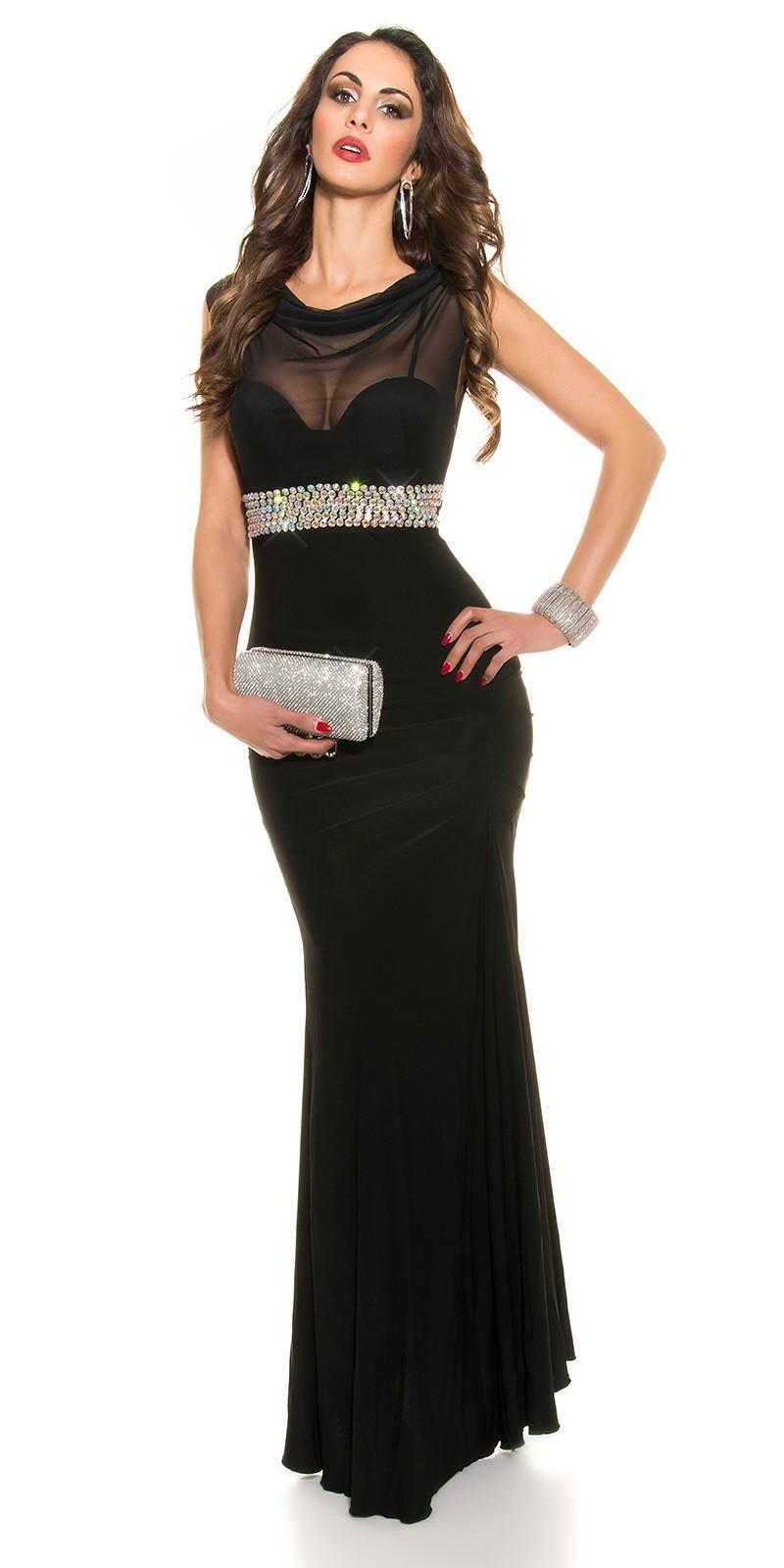 a89439250eba Koucla Plesové šaty s kamienkovým pásom - Glami.sk