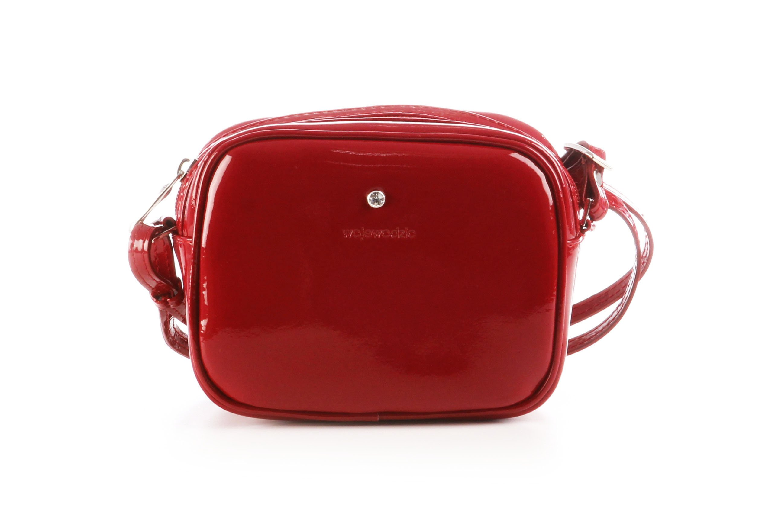 Kožená kabelka malá spoločenská lakovaná Wojewodzic červená 3GD28 PL02 75f490b4419