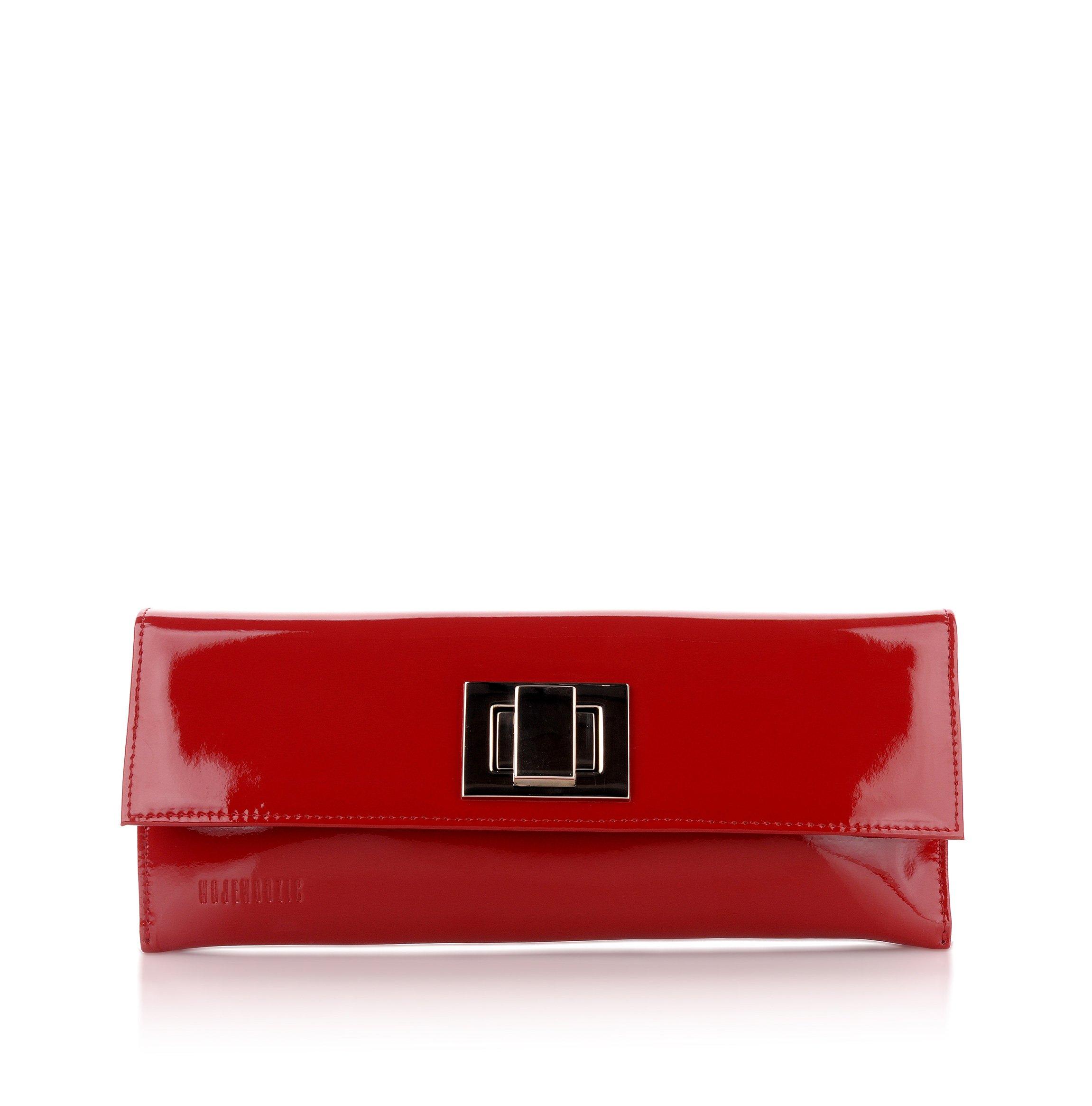 Kožená kabelka spoločenská listová malá Wojewodzic červená 39216 PL02 3a0805a975d