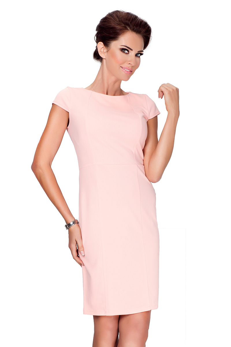 Pouzdrové šaty Numoco 37-1 meruňkové L - Glami.cz 6e13cf3f57