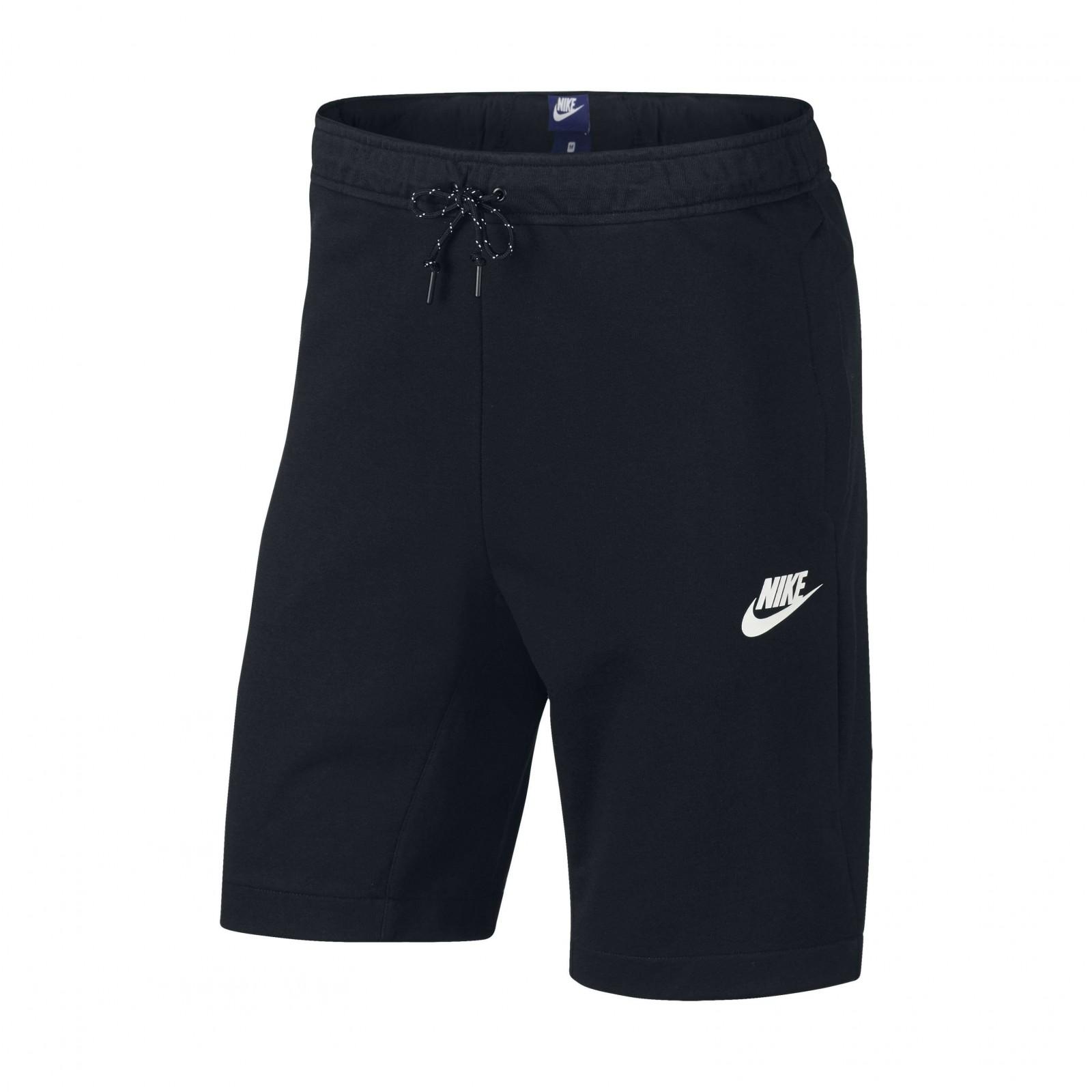 fa5157b8c7b Pánské kraťasy Nike M NSW AV15 FLC SHORT BLACK BLACK WHITE - Glami.cz