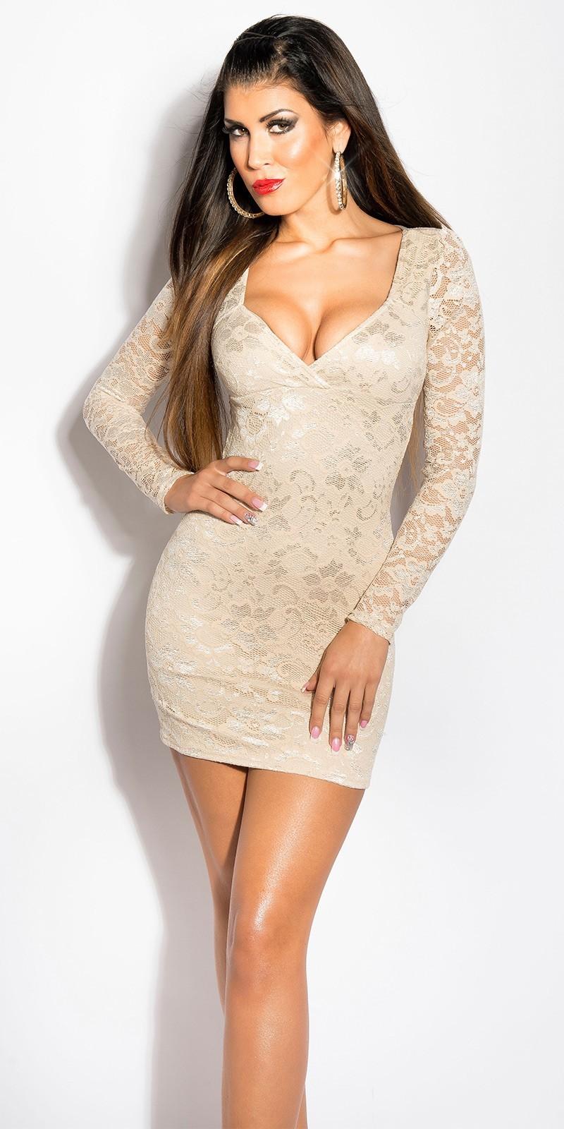 Koucla Dámske čipkované šaty s dlhým rukávom - Glami.sk 1562b560fe1