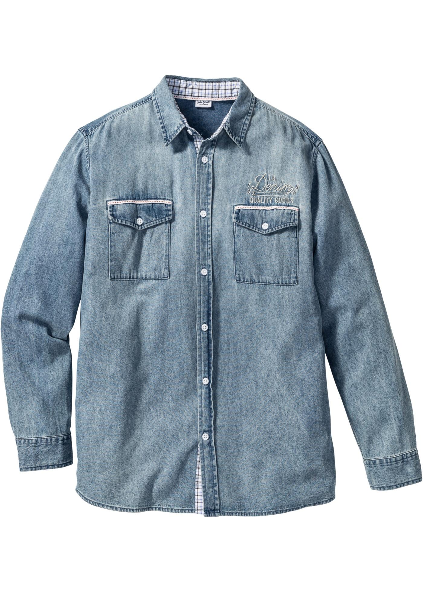 Chemise Jean Longue pour john baner jeanswear bonprix - chemise en jean longue regular fit