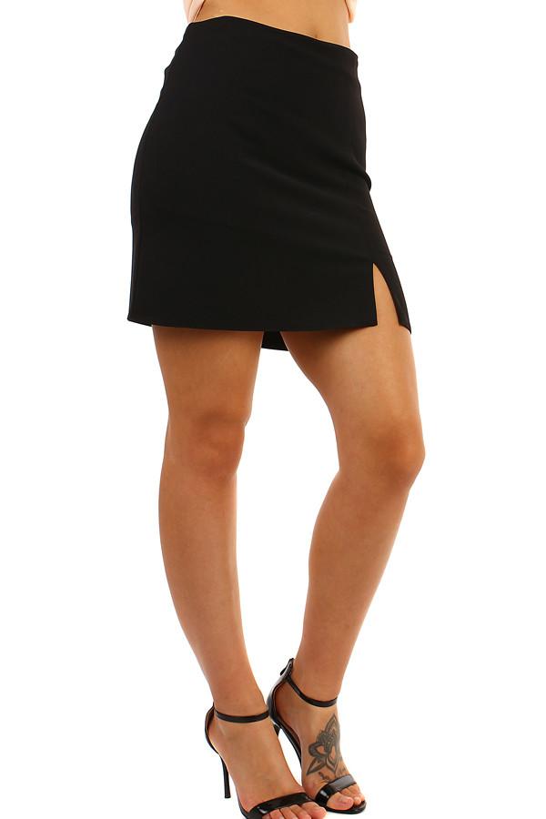 bd15c6c57a7 TopMode Krátká dámská sukně s rozparkem - i pro plnoštíhlé (černá ...