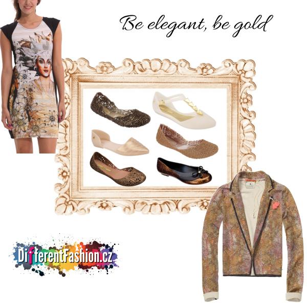 Elegantní zlatý set by www.DifferentFashion.cz
