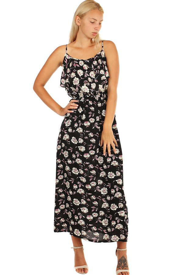 c903a59476b6 Glara Letné maxi šaty s kvetinovým vzorom - Glami.sk