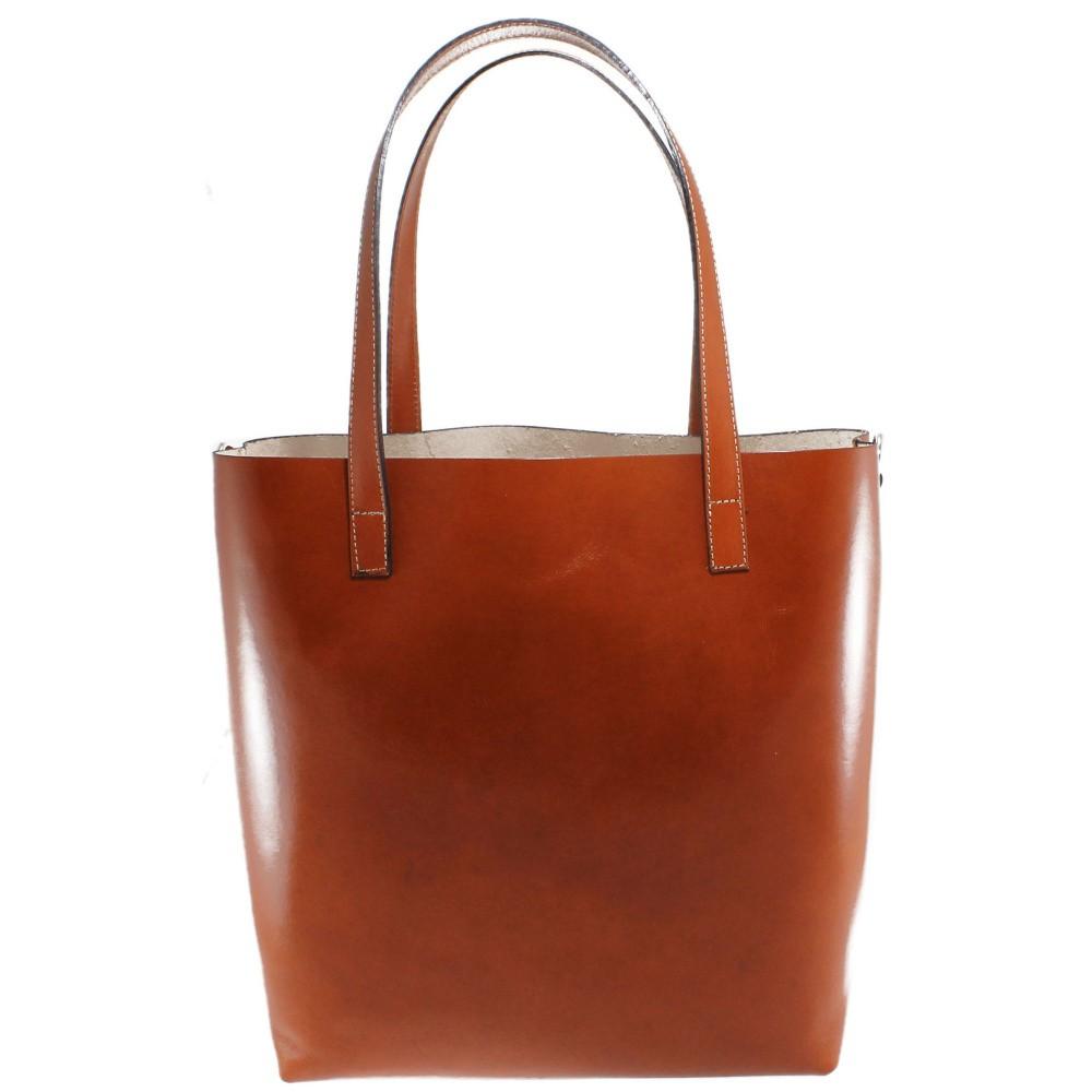 63986d2633a1 Hnedá kožená taška Chicca Borse Greta - Glami.sk