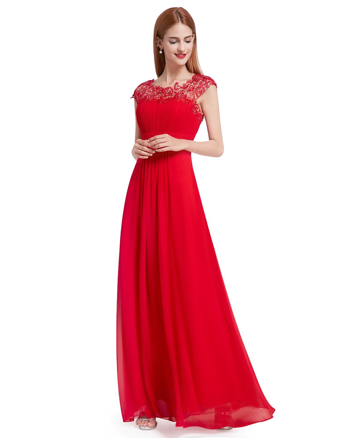 7543fc53c331 ... Pretty plesové šaty s krajkou červené 9993. -20%. Ever ...