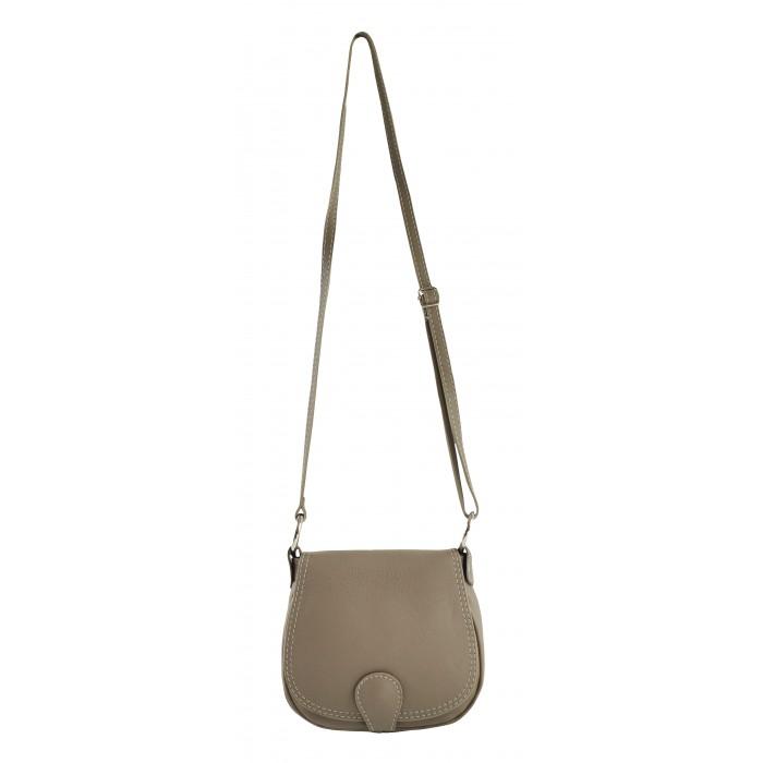 ... kožená menší béžová crossbody kabelka na rameno Lundy VERA PELLE 34056.  -100 Kč ... bd4216a348e