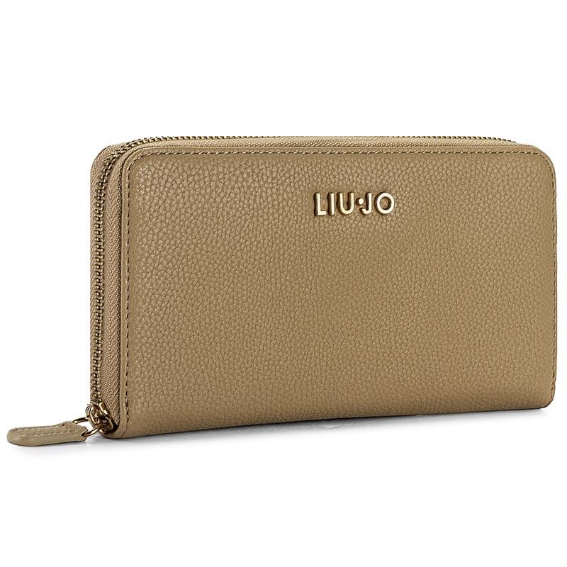 Nagy női pénztárca LIU JO - Zip Around Nimes A67044 E0027 Caribou 81017 ad17e38aaa