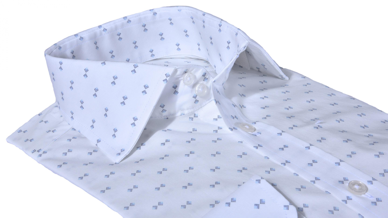 3b48d1356050 Alain Delon Biela Extra Slim Fit košeľa s printom - Glami.cz