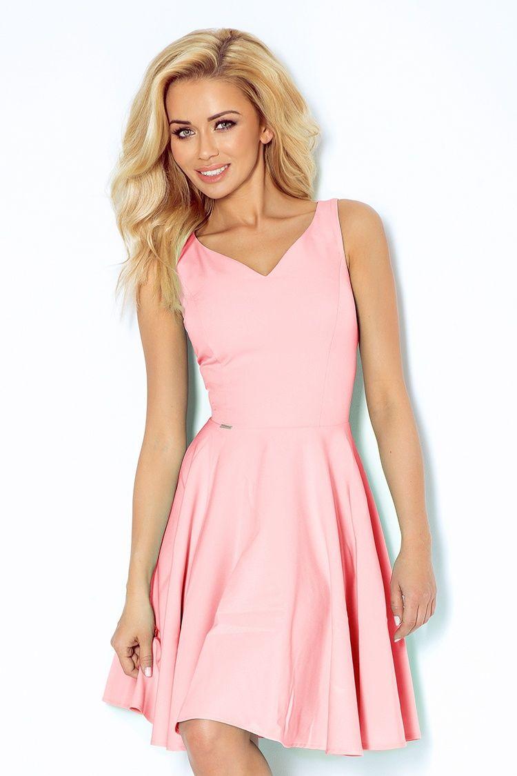 Numoco Kvalitní šaty růžové 1022eda94e
