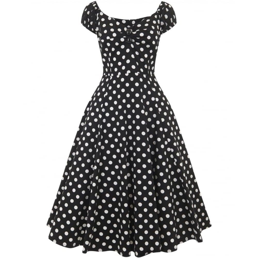 COLLECTIF Dámské retro šaty Dolores černé s puntíky - Glami.cz 750ba265f8