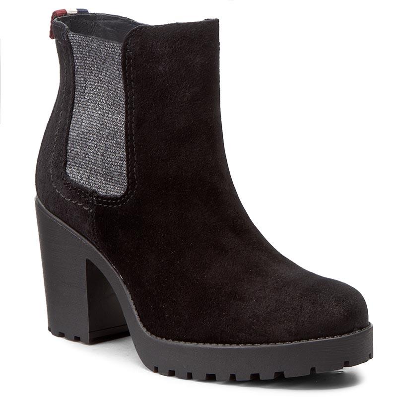 Členková obuv TOMMY HILFIGER - DENIM Boo 1B FW0FW01356 Black 990 ... 9d89f425f86