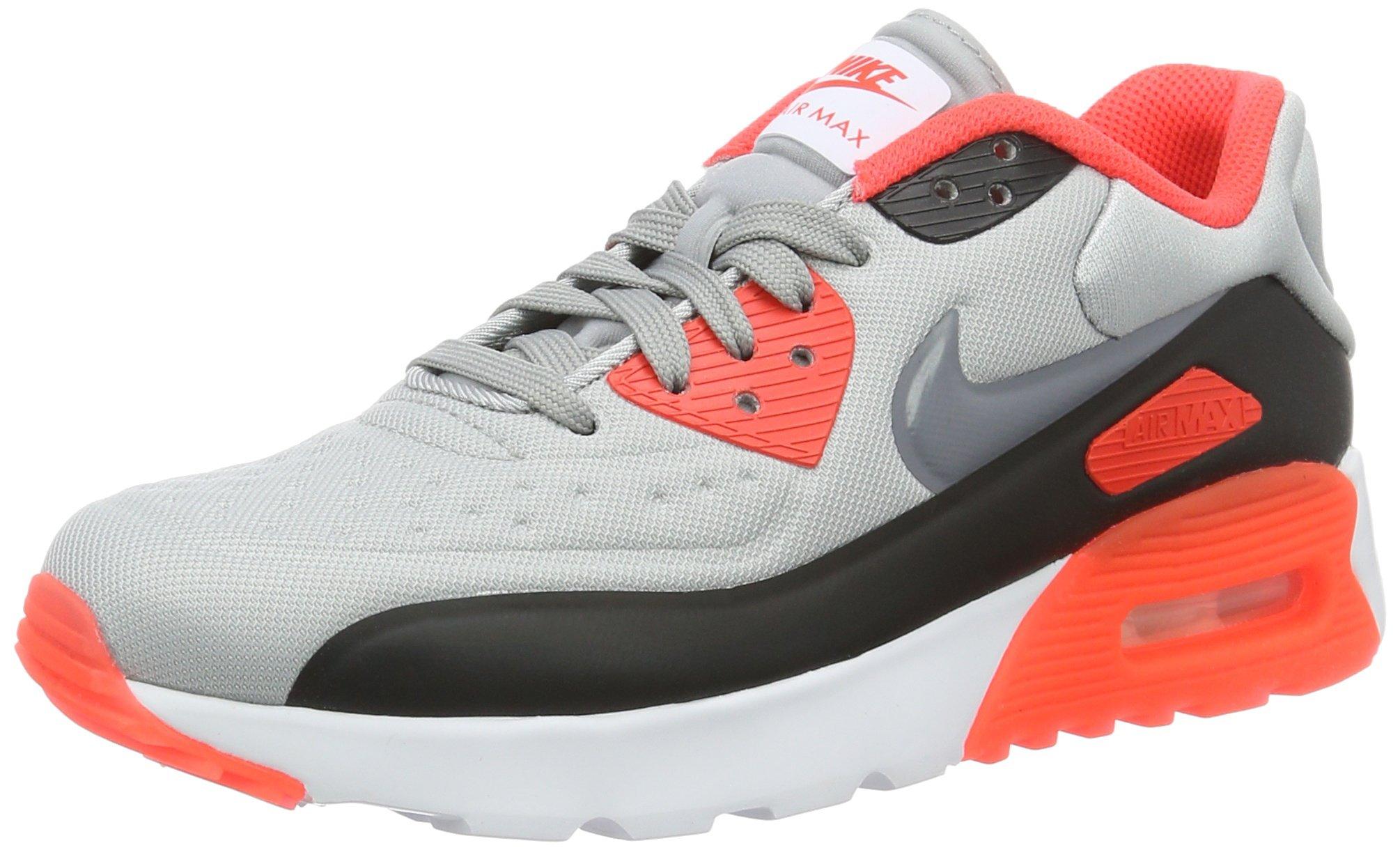the best attitude 479d4 e0305 Nike air Max 90 Ultra Se (GS), Chaussures de Course garçon, Gris (Wolf Cool  Grey-Bright Crimson-Black), 37 1/2 EU
