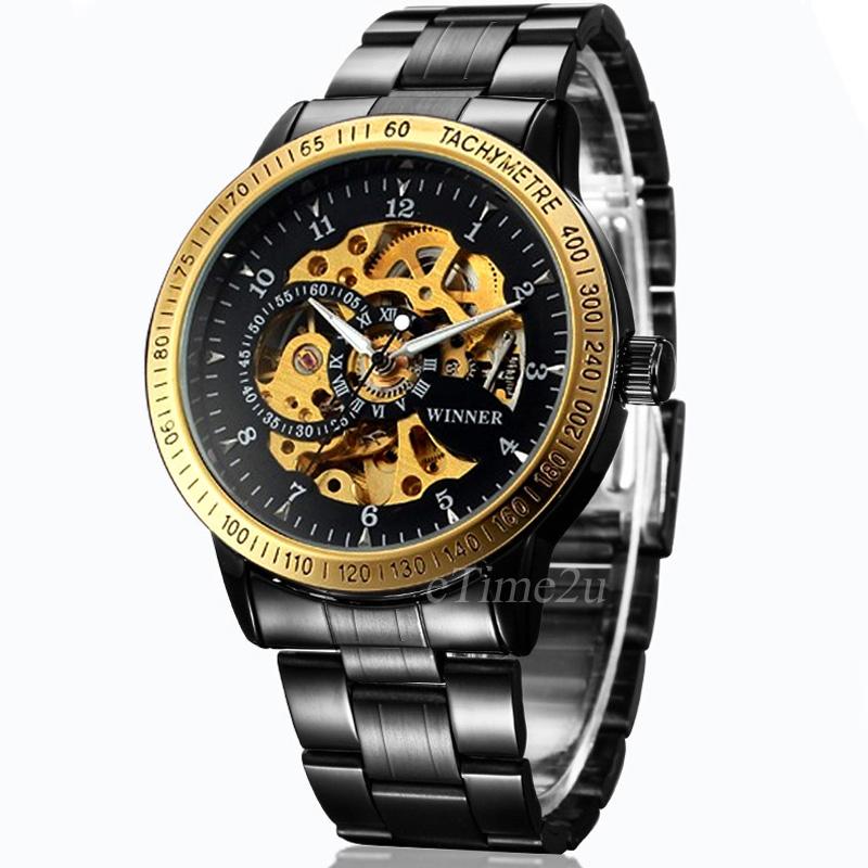 cc376cc4353 Pánské mechanické hodinky Winner WH26M - Glami.cz