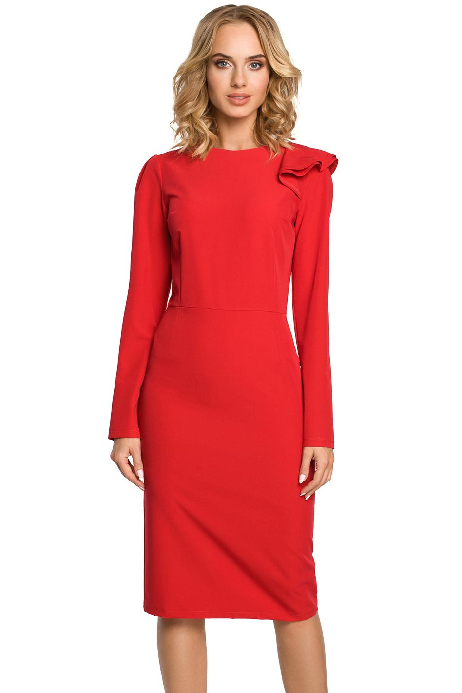 7386d7d21ce2 Červené šaty MOE 326 - Glami.sk